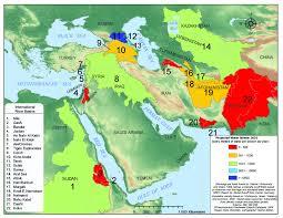 Vannkart over Midtøsten